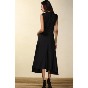 Sleeveless Black Cocktail Dress -