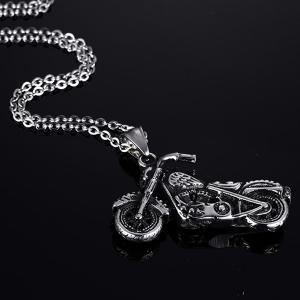 Vintage Motorcycle Collier Shape For Men -