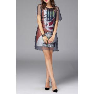 See-Through Dress and Cami Dress Suit -