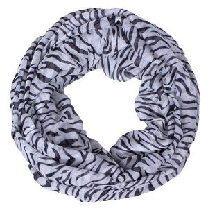 Chic Zebra Stripes Printed Voile Scarf For Women -