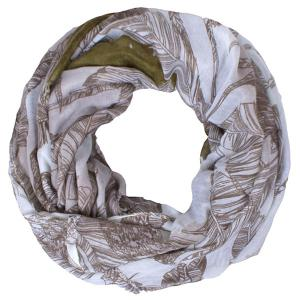 Chic Voile Scarf With Leaves Print For Women -