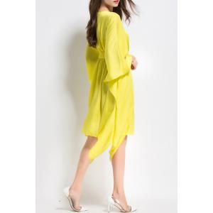 Long Sleeve Asymmetric Dress -