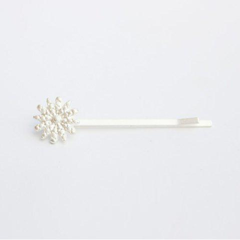 Outfits Cute Snowflake Hairpin For Women - SILVER  Mobile