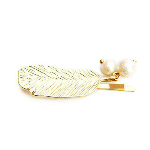 Best Cute Faux Pearl Feather Hairpin For Women