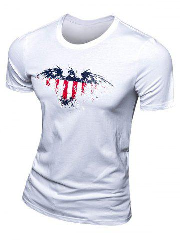 Shops Casual Eagle Printed Short Sleeve T-Shirt For Men