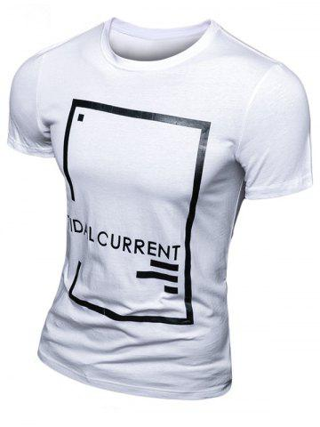 Trendy Casual Letter Printed Short Sleeve T-Shirt For Men