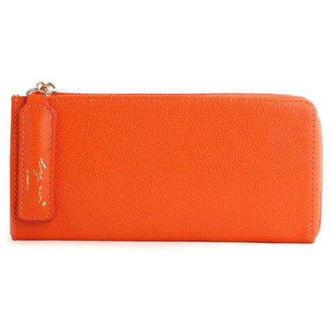 Fashion Simple Letter and Solid Color Design Wallet For Women