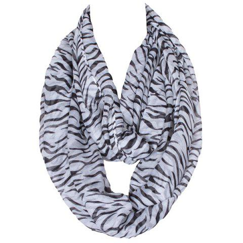 Outfit Chic Zebra Stripes Printed Voile Scarf For Women