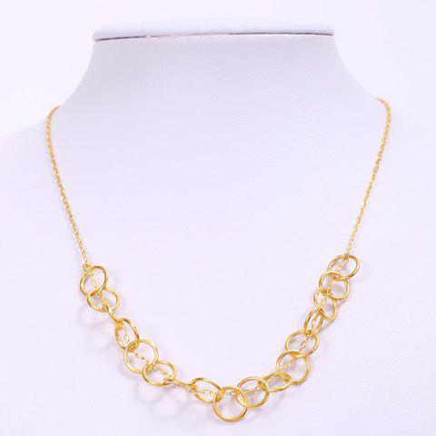 Buy Simple Solid Color Hollow Out Round Necklace For Women