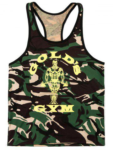New Fashion Camouflage Printed Tank Top For Men