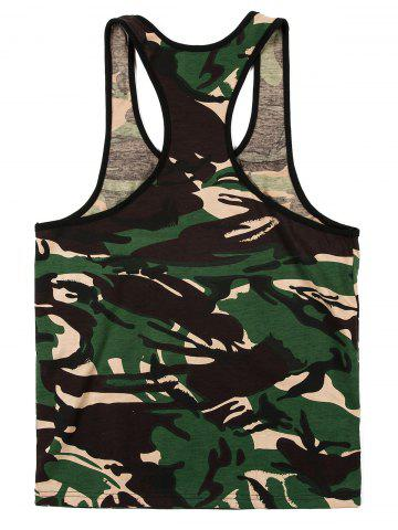 Best Fashion Camouflage Printed Tank Top For Men - M CAMOUFLAGE Mobile