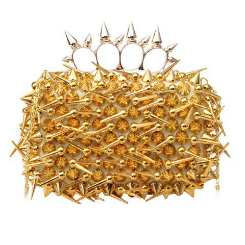 Sale Stylish Studded and Metal Design Evening Bag For Women