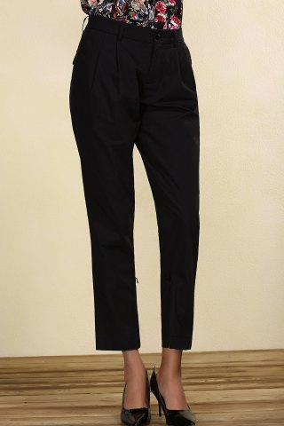 Outfits Mid-Waisted Black Chino Pants