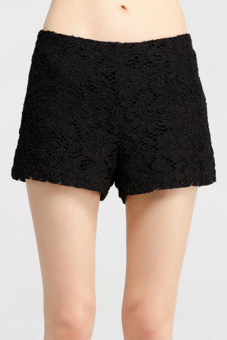 Affordable Mid Waist Lace Shorts
