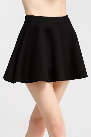 Store Slimming High Waist Solid Color Skirt