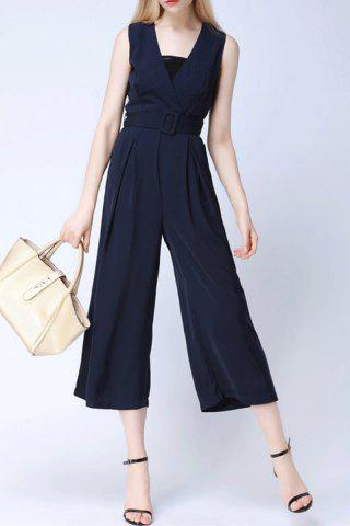 Online Belted Wide Leg Jumpsuit For Women