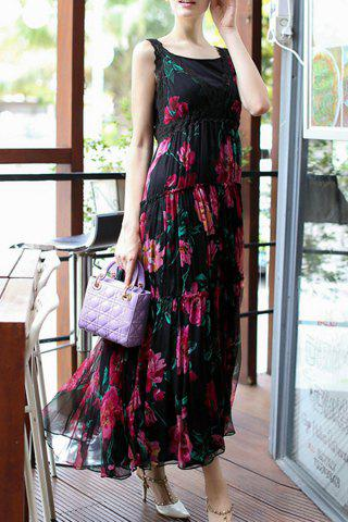 Best Sleeveless High Waisted Floral Maxi Dress