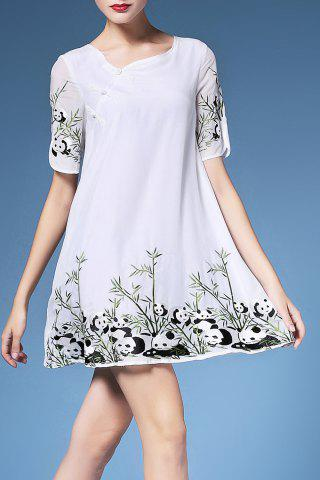 Shop Embroidery Short Sleeve Dress For Women