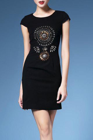 New Beaded Cap Sleeve Bodycon Dress For Women