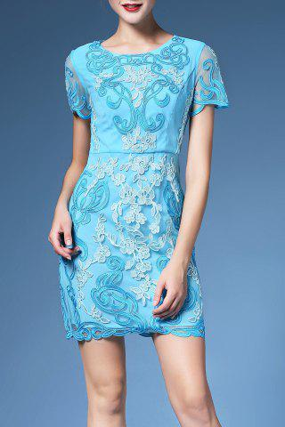 Shops Floral Embroidered Shift Dress For Women