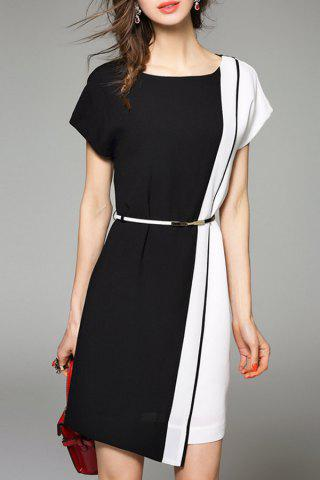 Outfits Color Block Short Work Dress