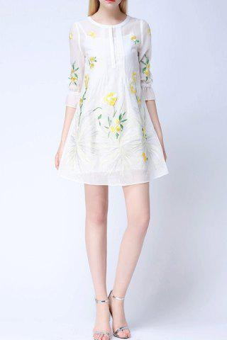 Sale Embroidered Flare Dress Twinset For Women