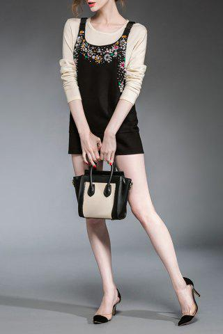 Shops Fitted Solid Color Beading Dress