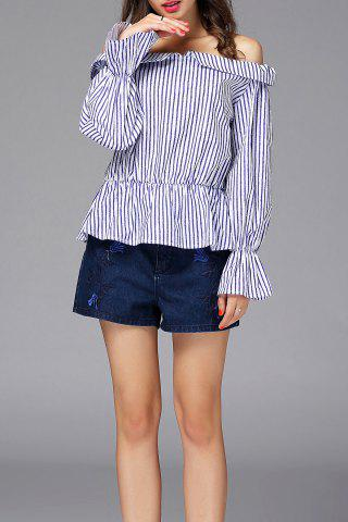 Outfit Striped Off Shoulder Blouse
