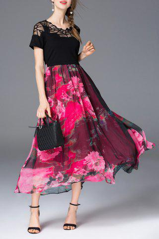 Best Belted Floral Print Maxi Dress