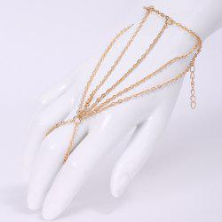 Fashion Multi-Layered Tassels Simple Design Bracelet With a Ring For Women