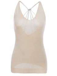 Chic Women's Open Back Sequined Tank Top -