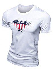 Casual Eagle Printed Short Sleeve T-Shirt For Men -