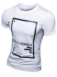 Casual Letter Printed Short Sleeve T-Shirt For Men -