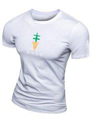 Casual Printed Short Sleeve T-Shirt For Men -