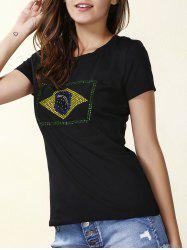 Beaded Short Sleeve T-Shirt