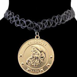 Retro Embossed Letters The Old Chokers Necklace -