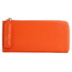 Simple Letter and Solid Color Design Wallet For Women -