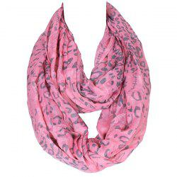 Stylish Twist Skull and Leopard Pattern Voile Scarf For Women
