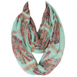 Sweet Owl Print Voile Scarf For Women -