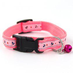 Compact and Elegant Cat Ship Pattern Cloth Sticking Pet Chain Collar Dog Leash