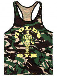 Fashion Camouflage Printed Tank Top For Men -