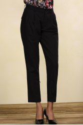 Mid-Waisted Black Chino Pants -