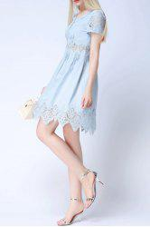 Crochet Lace A-Line Dress For Women -