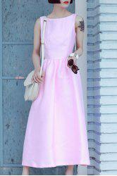 Fitting Solid Color Tank Dress -