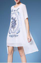 Embroidery Rhinestone Dress Twinset For Women -