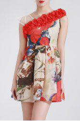 3D Flower Design Mini Dress -