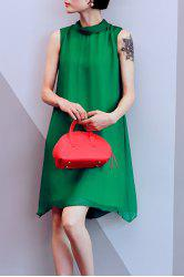 Loose Solid Color Tank Dress -