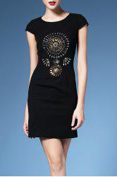 Beaded Cap Sleeve Bodycon Dress For Women -