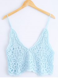 Fashion Spaghetti Straps Knitted Tank Top For Women -