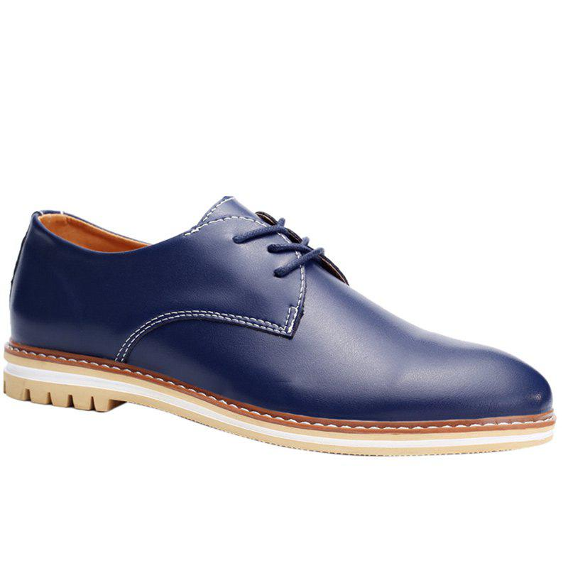 Fashion Fashion Lacing and PU Leather Design Formal Shoes For Men